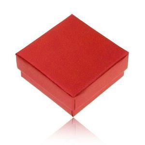 Cutiuță de cadou pentru inel sau cercei, culoare roșu perlat imagine