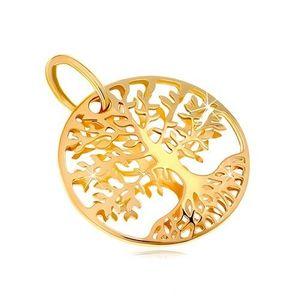 Pandantiv din aur galben 585 - cerc, copacul vieții imagine