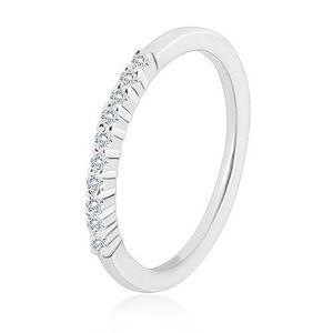 Inel din argint 925 - linie strălucitoare de zirconii transparente, brațe înguste - Marime inel: 49 imagine
