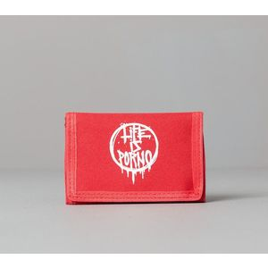 LIFE IS PORNO Timesaver Wallet Red imagine