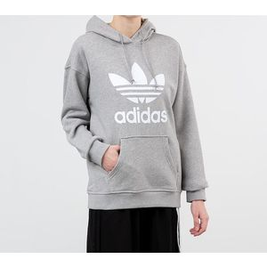 adidas Trefoil Hoodie Medium Grey Heather/ White imagine