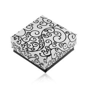 Cutiuță de cadou în culorile alb-negru, imprimeu cu ornamente în spirală imagine