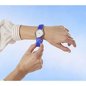 Ceas de mana cu bratara elastica - albastru imagine