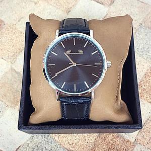 Ceas barbatesc negru elegant din piele premium imagine
