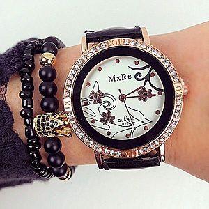 Ceas dama negru elegant din piele ecologica imagine