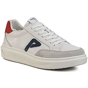 Sneakers PEPE JEANS - Abbey Arch PLS30963 White 800 imagine