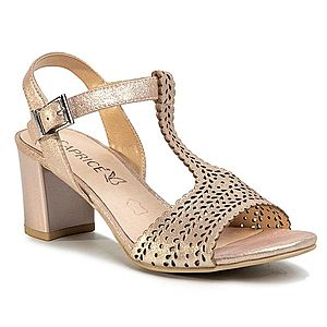 Pantofi dama rosii din piele naturala, eleganti, cu toc de 9 cm. imagine