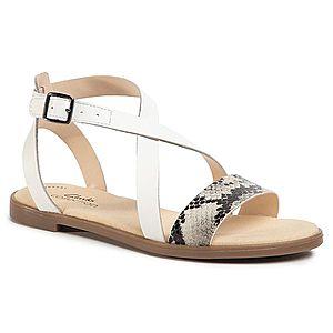 Sandale CLARKS - Bay Rosie 261493384 Grey Snake imagine