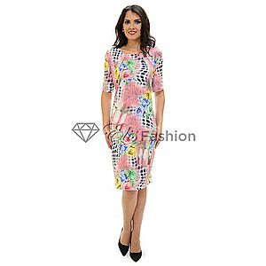 Rochie Abstract Design Pink imagine