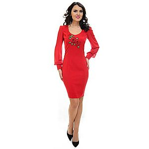 Rochie Ella Collection Vicious Elegance Red imagine
