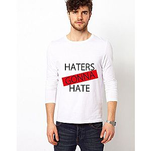 Bluza alba, barbati, Haters imagine