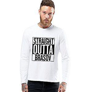 Bluza barbati alba - Straight Outta Brasov imagine