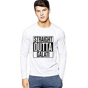 Bluza barbati alba - Straight Outta Galati imagine