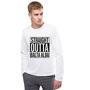 Bluza barbati alba - Straight Outta Balta Alba imagine
