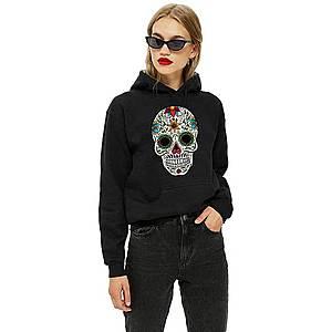 Hanorac dama negru - Sugar Skull Colorful imagine