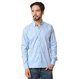 Camasa barbati regular bleu cu buline - The Original G+ imagine