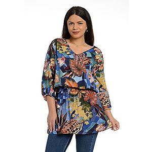 Tunica dama Multicolor cu Flori imagine