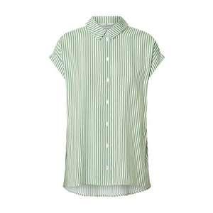 TOM TAILOR Bluză verde / alb imagine