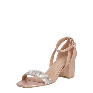 NEW LOOK Sandale 'TIBBY' auriu / bej / roz imagine