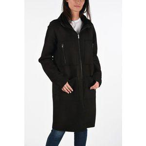 Diesel BLACK GOLD Leather LISTY-A Coat BLACK imagine