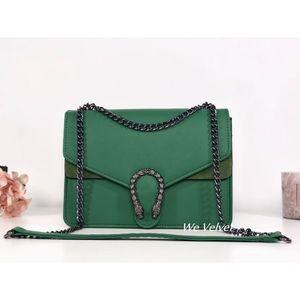 Geantă verde piele eco Belle imagine