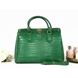 Geantă verde piele naturală Eveline imagine