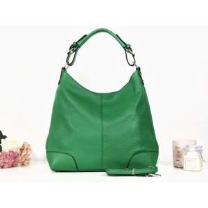 Geantă verde piele naturală Vanetta imagine