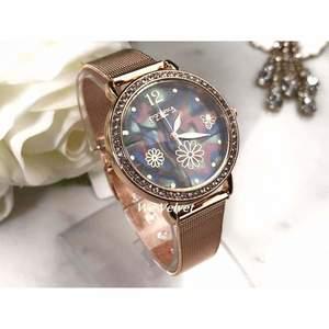 Set 2 ceasuri aurii cu argintiu EL + EA și cutie cadou imagine