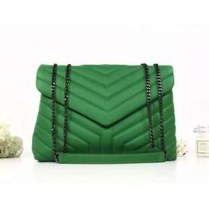 Geantă verde piele naturală Anelise imagine