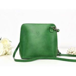 Geantă verde piele naturală Sena imagine
