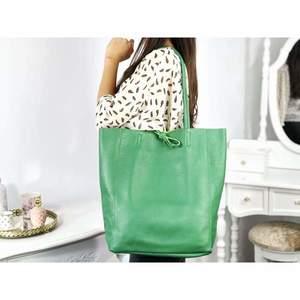 Geanta shopper verde imagine
