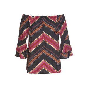 LASCANA Bluză portocaliu / roșu / negru imagine
