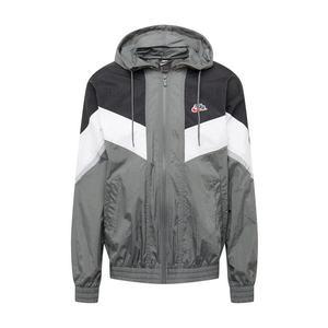 Nike Sportswear Geacă de primăvară-toamnă gri / alb / negru imagine