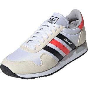 ADIDAS ORIGINALS Sneaker low 'USA 84' roșu / alb / crem / negru imagine