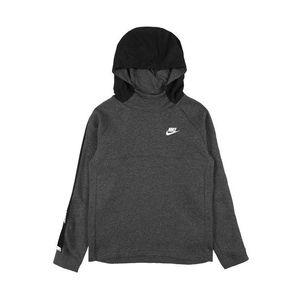 Nike Sportswear Bluză de molton alb / negru / gri amestecat imagine