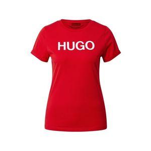 HUGO Tricou alb / roșu imagine
