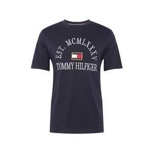 TOMMY HILFIGER Tricou 'COLLEGE' albastru închis / alb / roșu / auriu imagine