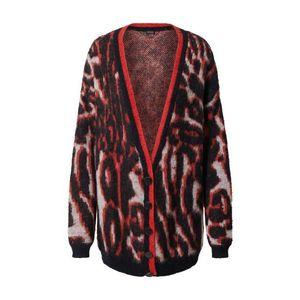 GUESS Geacă tricotată 'Holly' negru / roșu / alb imagine