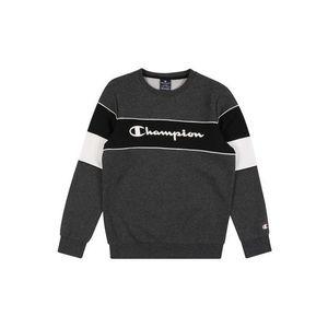 Champion Authentic Athletic Apparel Bluză de molton gri închis / negru / alb imagine