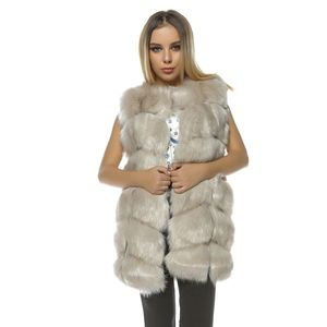 Vesta lunga de blana Frozen cream imagine