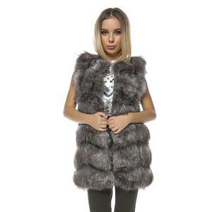 Vesta lunga de blana Frozen gri imagine