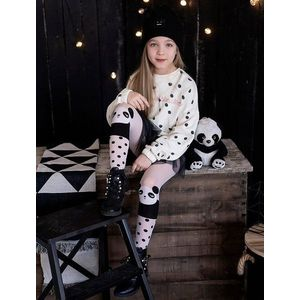 Ciorapi fete cu model panda Knittex Ling Ling 40 den imagine