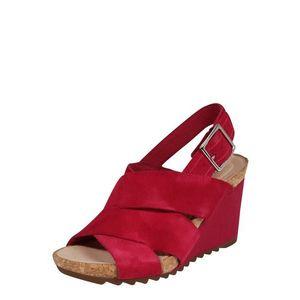 CLARKS Sandale cu baretă 'Flex Sand' fuchsia imagine