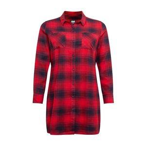 Urban Classics Curvy Rochie tip bluză roșu / marine imagine