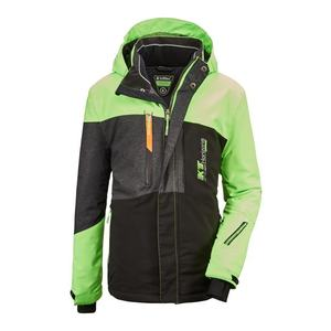 KILLTEC Geacă sport 'Glenshee' verde neon / negru / gri închis imagine