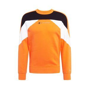 Champion Authentic Athletic Apparel Bluză de molton alb / portocaliu / negru imagine