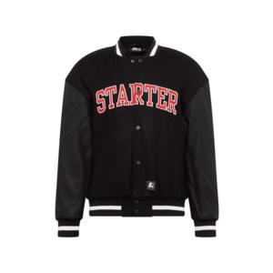Starter Black Label Geacă de primăvară-toamnă negru / alb / roșu imagine