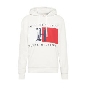 TOMMY HILFIGER Bluză de molton 'Lewis Hamilton' alb / roșu / albastru noapte imagine