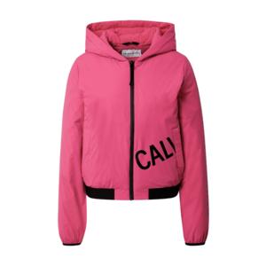 Calvin Klein Jeans Geacă de primăvară-toamnă roz / negru imagine
