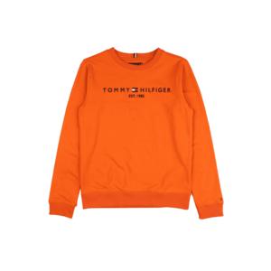 TOMMY HILFIGER Bluză de molton portocaliu / navy / alb / roșu imagine